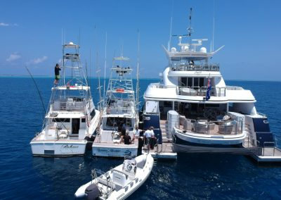 Mothership with Gamefishing boats