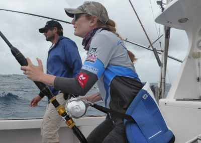 Stephanie Choate on board with Australian Fishing Expeditions